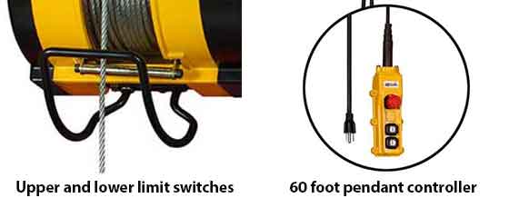 the oz electric builder's hoist are designed for use on commercial  buildings, sites, and in various construction workplaces, warehouses,  storage facilities